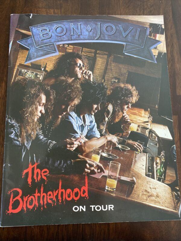 Bon Jovi  RARE FULL TOUR BOOK The Brotherhood Tour Book 1989 Richie Sambora