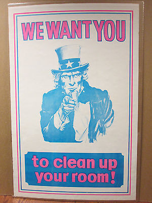 Vintage We Want you To Clean Your Room! Uncle Sam  6850
