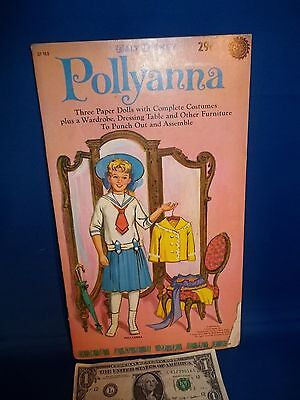 "Vintage Antique Golden Funtime Paper Doll Books Disney's ""Pollyanna"" (1960)"