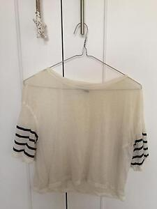 Sheer Cropped Top (Size Small) Killarney Heights Warringah Area Preview