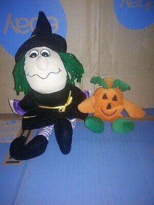 Plush Witch And Pumpkin/ Jack o lantern halloween toy  Decor/decoration  (Witch Pumpkin)
