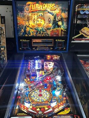 Funhouse Pinball Machine Williams Coin Op Arcade Pat Lawlor LEDs 1990 PLAYSGREAT