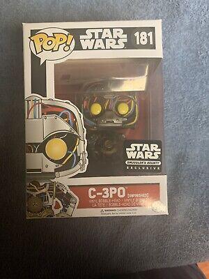 Funko Pop! Star Wars C-3PO #181 Pop Smuggler's Bounty Excl. New In Box