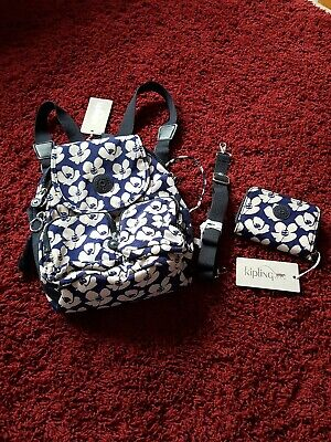 BNWT KIPLING  Firefly Up convertible backpack and purse bold flower print