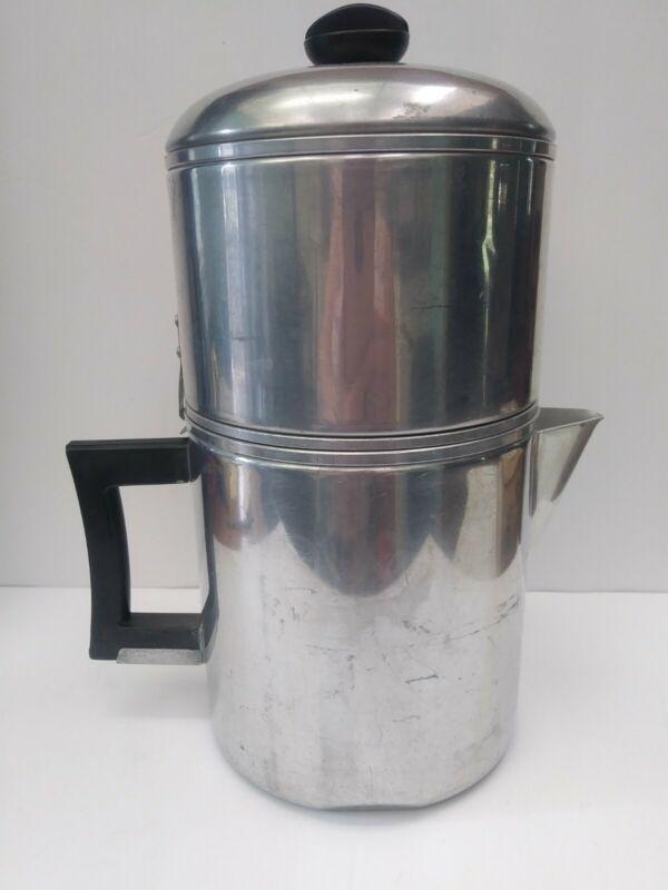Vintage WEAR-EVER Coffee Pot Drip-O-Lator 8 cup Aluminum USA No 3048