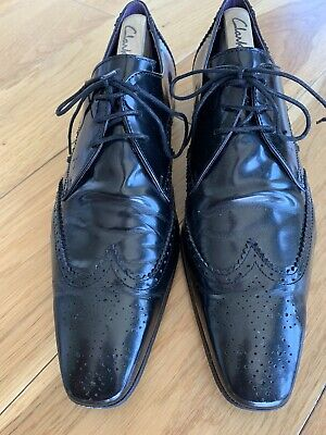 Black Line By Jeffery West Black Patent Leather Lace Shoes (Size 11) Used In Box