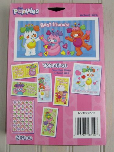 Vintage 2001 Popples Valentines 35 Cards New Sealed Box