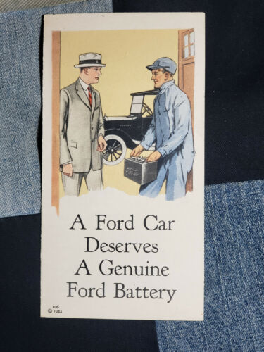 REAL VINTAGE 1924 FORD MOTOR COMPANY BATTERY Brochure ORIG  MODEL T CAR TRUCK