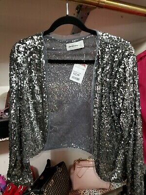 Abercrombie fitch jacket women. Silver sequin. Size small