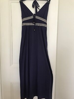 Purple Grecian style jersey beach/maxi dress, Monsoon, size medium Grecian Jersey