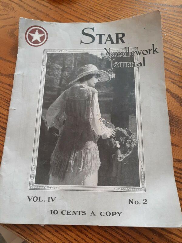 Star Needlework Journal 1919 Vol IV  No 2  FILET CROCHET Antique Patterns PLUS