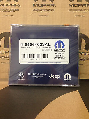 NEW 2013 VERSION NAVIGATION DISK FOR CHRYSLER WITH RB1 OR REC RADIO 5064033AL