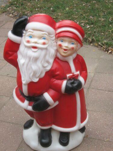 Vintage Empire Santa & Mrs Claus Light Up Blow Mold Christmas Decoration