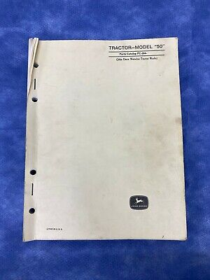 John Deere Parts Catalog For Model 50 Tractor Pc264