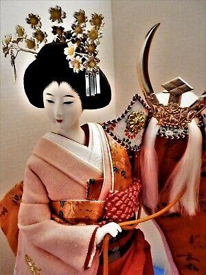 "Exquisite 16"" Japanese Geisha Doll -- Porcelain -- Beautifully Costumed"