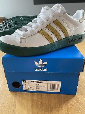 Vintage adidas originals ® Forest Hills Green, Gold & White UK 8.5