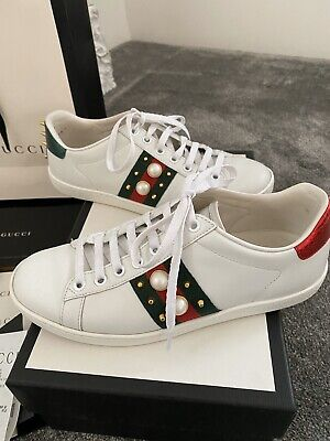 Gucci Ace Leather Spiked trainers Sneakers 36 UK size 5 fits 4.5 5 approx