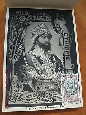 RARE historic SET ETHIOPIAN POSTCARDS, MENELIK II, HAILE SELASSIE BOOKLET 1931
