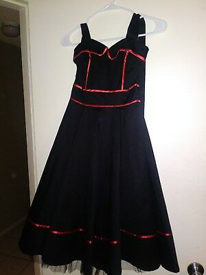 Black and Red Pinup Dress Pin Up Style and Petticoat pinup petticoat (Pin Up Outfit)