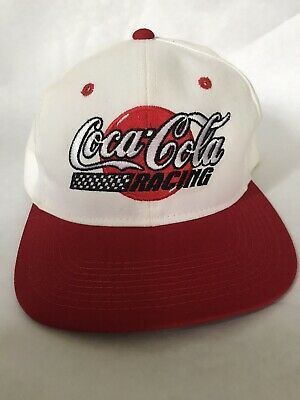 Vintage Snapback Trucker Hat Cap Coca-Cola Coke Made In USA Coca Cola Racing VTG