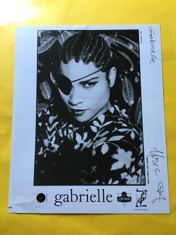 "Gabrielle Press Photo 8x10"", Polydor 1993, Photo: Kate Garner."