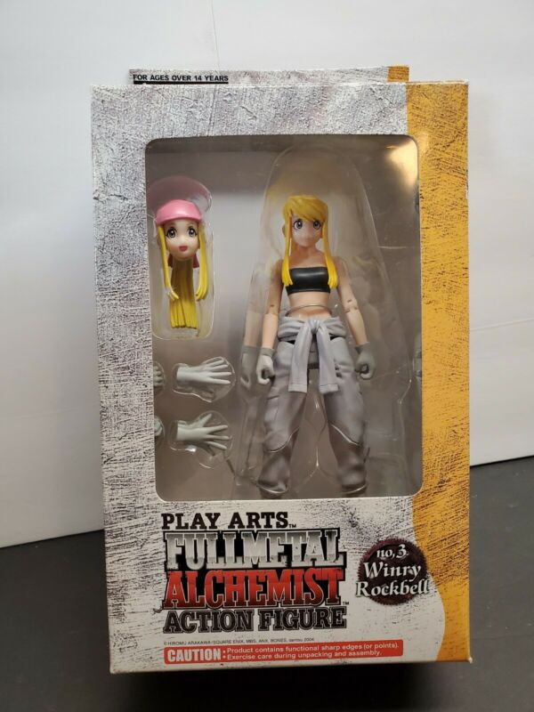 PLAY ARTS FULLMETAL ALCHEMIST WINRY ROCKBELL Figure Ages 15+ 6inch