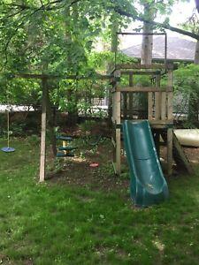 Swing Set Play Structure - Cedar
