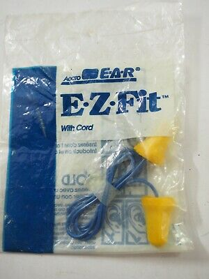 Aearo Earplugs E-a-r Ez Fit With Cord Ear Protectors Model Nrr 28db