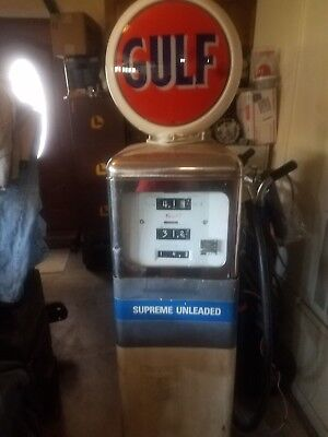 Vintage Unrestored 1957 Gas Pump