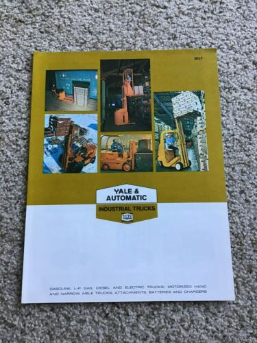 1970 Yale Automatic  fork lift sales literature.