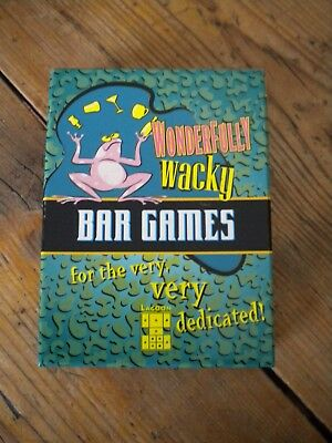 WONDERFULLY WACKY BAR GAMES CARDS for sale  Shipping to South Africa