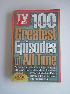 TV Guide - 100 Greatest Episodes of All Time - Adelphia Cable Edition - Jun (Tv Guides 100 Greatest Episodes Of All Time)