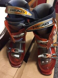 Head to edge ski boots used 5 times size 9