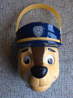Disney Paw Patrol Chase Figural Bucket Basket Easter Halloween NWT (Paw Patrol Halloween Bucket)