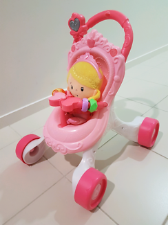 Fisher-Price Princess Mommy Stroll-Along Musical Walker with doll