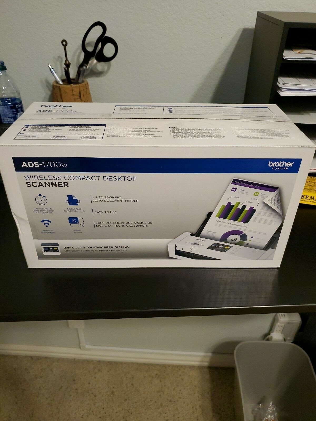 Brother Wireless Document Touchscreen Scanner 25 ppm Home Of