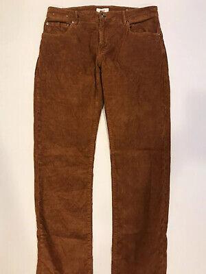 PT05 Mens Jazz Slim Brown Orange Corduroy Pants Italy Size 34x35 Hardly Worn!