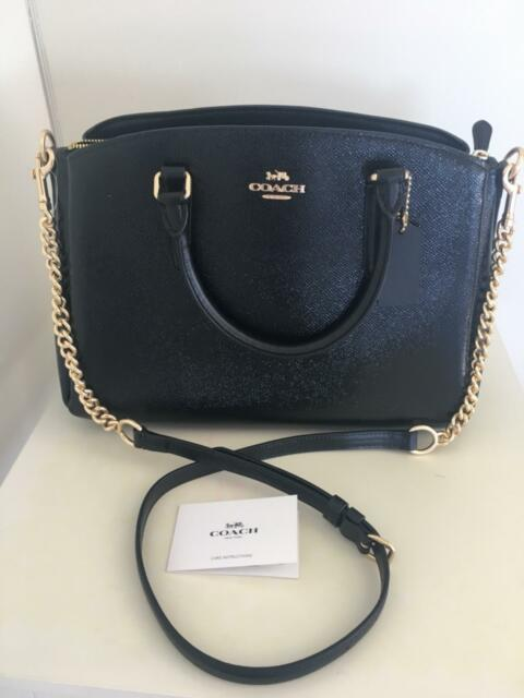 6e2681e9f7a Brand New With Tags 100% Authentic COACH black leather handbag ...