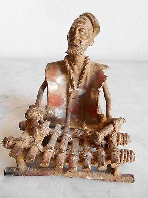 Figure Bronze Bambara 8cmx7cmx9cm Art Tribale African Africanische Kunst