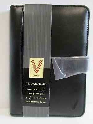 Virtuo Professional Junior Padfolio Black Vinyl Business Resume Organizer 6x9