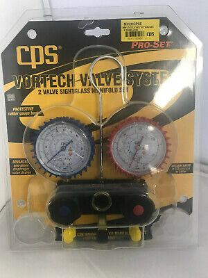 Cps Mv2hcp5e R-290 R-600a 3 18 Gauges Manifold W 5 Premium Black Hoses