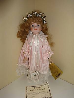 "Seymour Mann Collection Doll 17"" Amy NIB COA Porcelain LIMITED Vintage 80's"