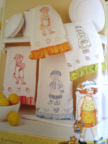"""Mary Engelbreit  Paper Doll Inspired """"Embroidery with Ann Estelle & Friends"""""""