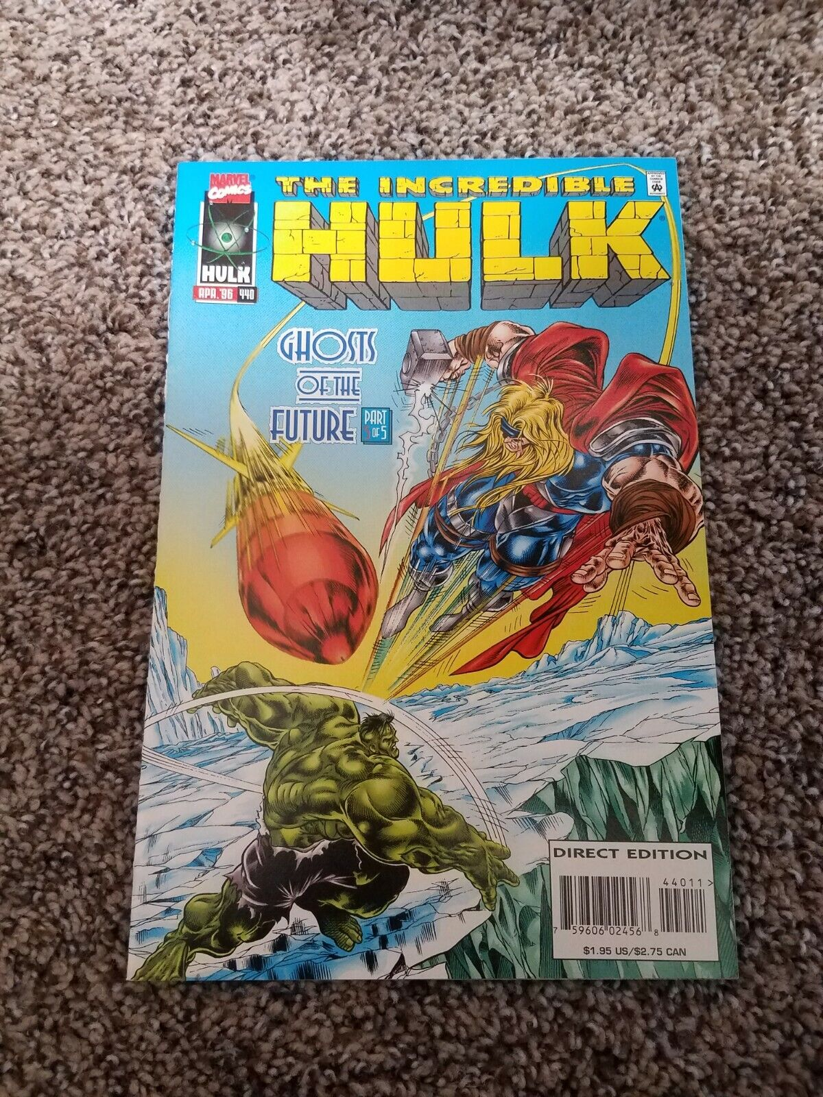 Incredible Hulk 440 Battle With Thor - $5.50
