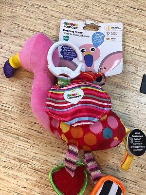 NEW LAMAZE TOY  Flapping Fiona Flamingo Developmental Toy