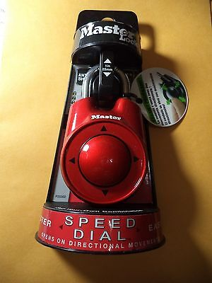 Master lock Speed Dial Resettable Combination 1500iD Directional Movement RED