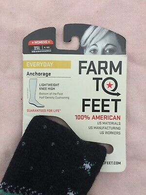 Farm To Feet Anchorage Lightweight Knee High Wool Blend Socks Women's Small (Lightweight Knee High Socks)