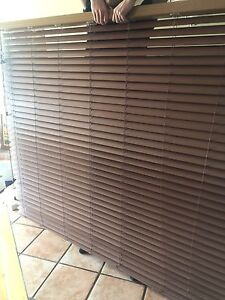 """Slat blinds 77.75"""" wide by 65"""" long.  Window coverings. Stores"""
