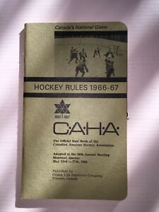Official Rule Book of the Canadian Amateur Hockey Assc ('66-'67)