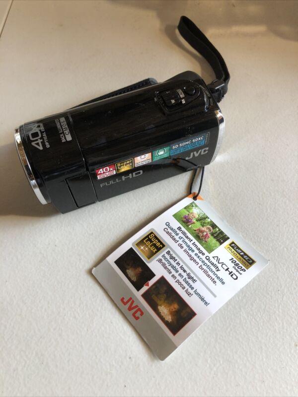 JVC Full HD Camcorder Model # GZ-E10BU 40x Everio Free Shipping Bare Camera